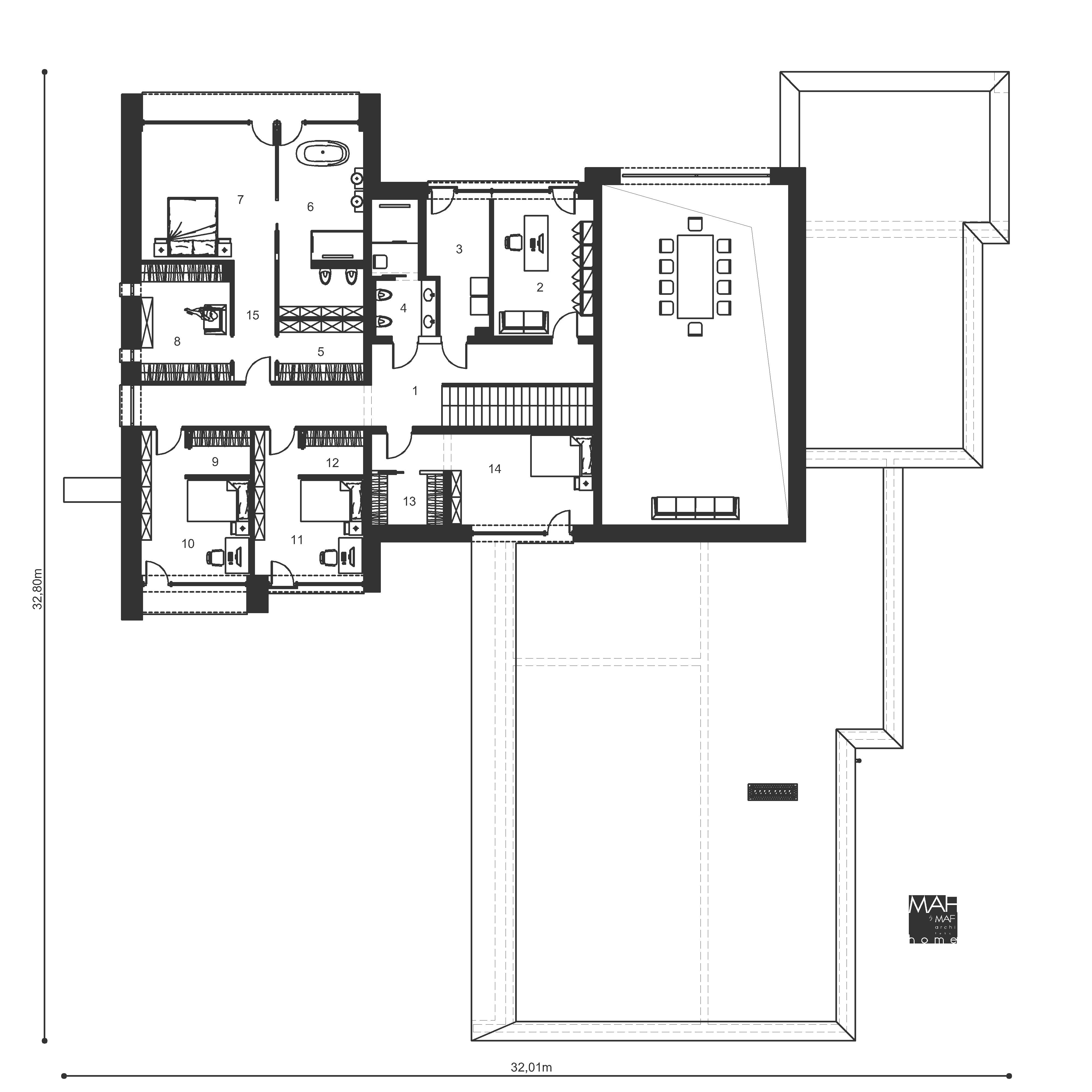 rzut domu piętro