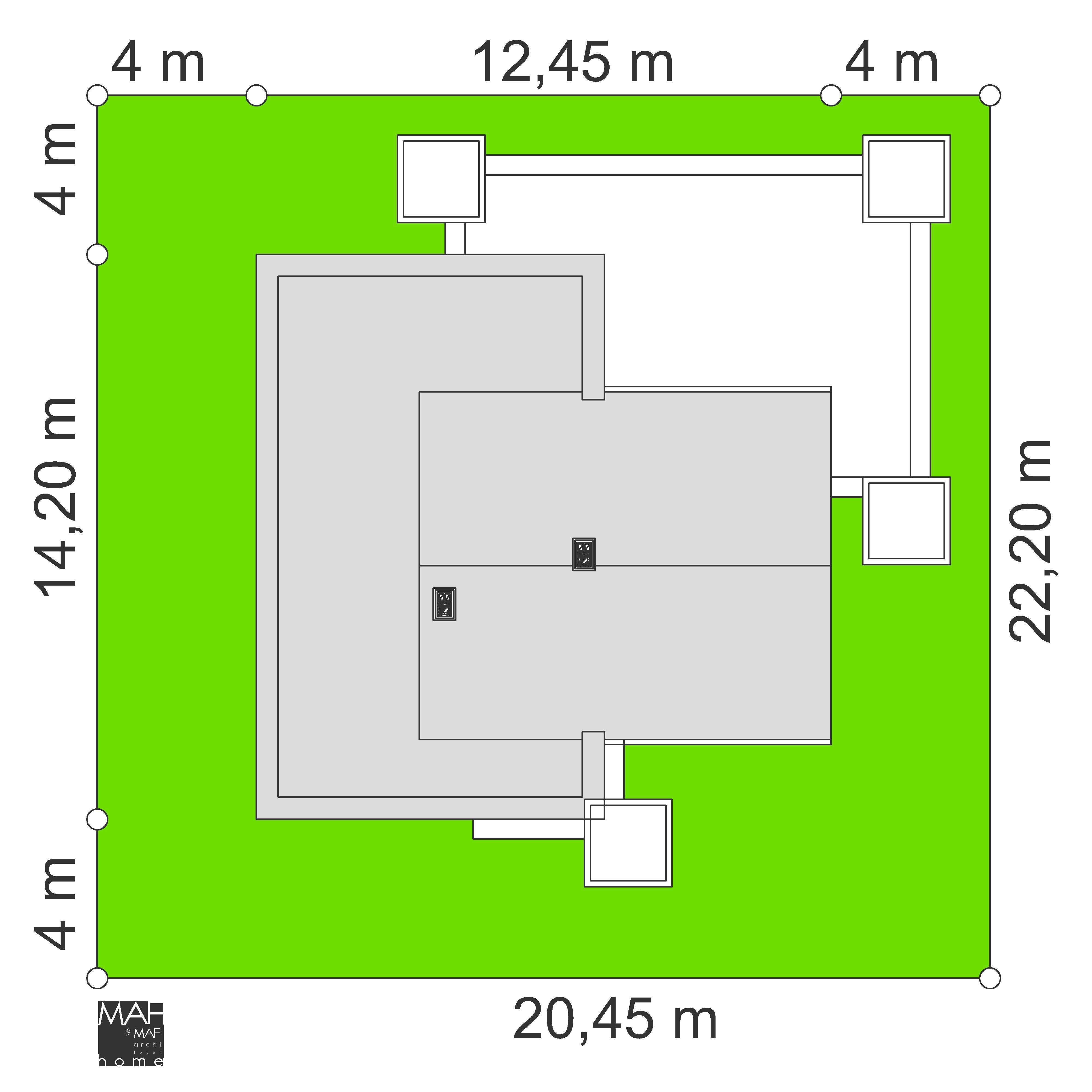 wymiary działki dom