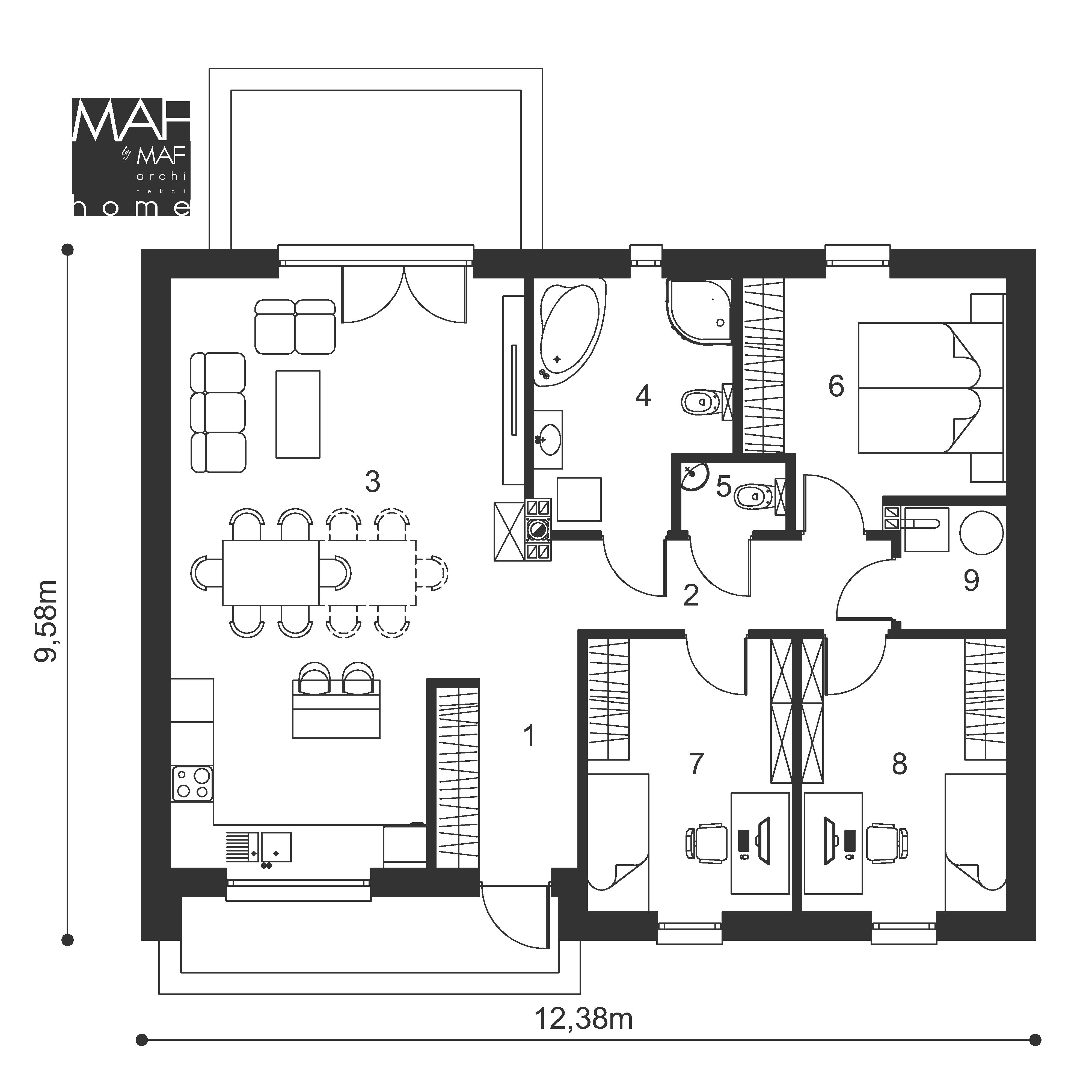 gotowy projekt domu parter