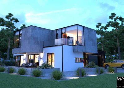 gotowy projekt domu piętrowego z garażem