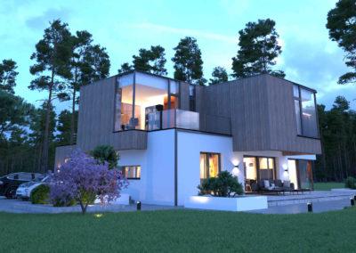 duży dom piętrowy wizualizacja