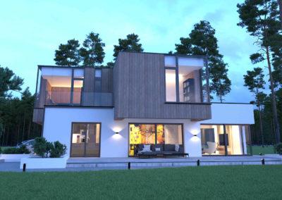 wizualizacja dużego domu piętrowego