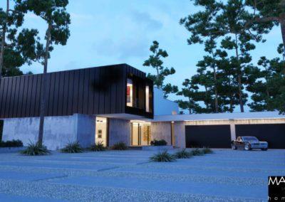 projekt dużego domu piętrowego