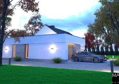 wizualizacja domu piętrowego z garażem