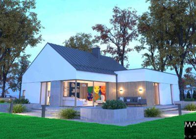 wizualizacja domu piętrowego