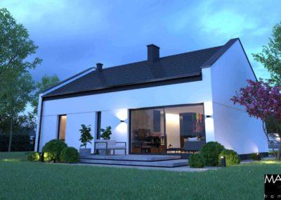 nowoczesny dom parterowy wizualizacja