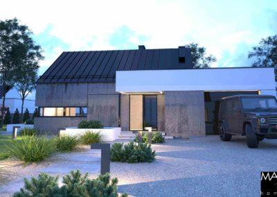gotowy projekt domu ze skośnym dachem